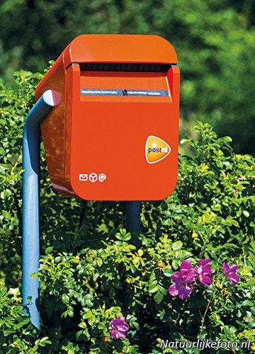 Kaart met Nederlandse brievenbus van natuurlijkefoto